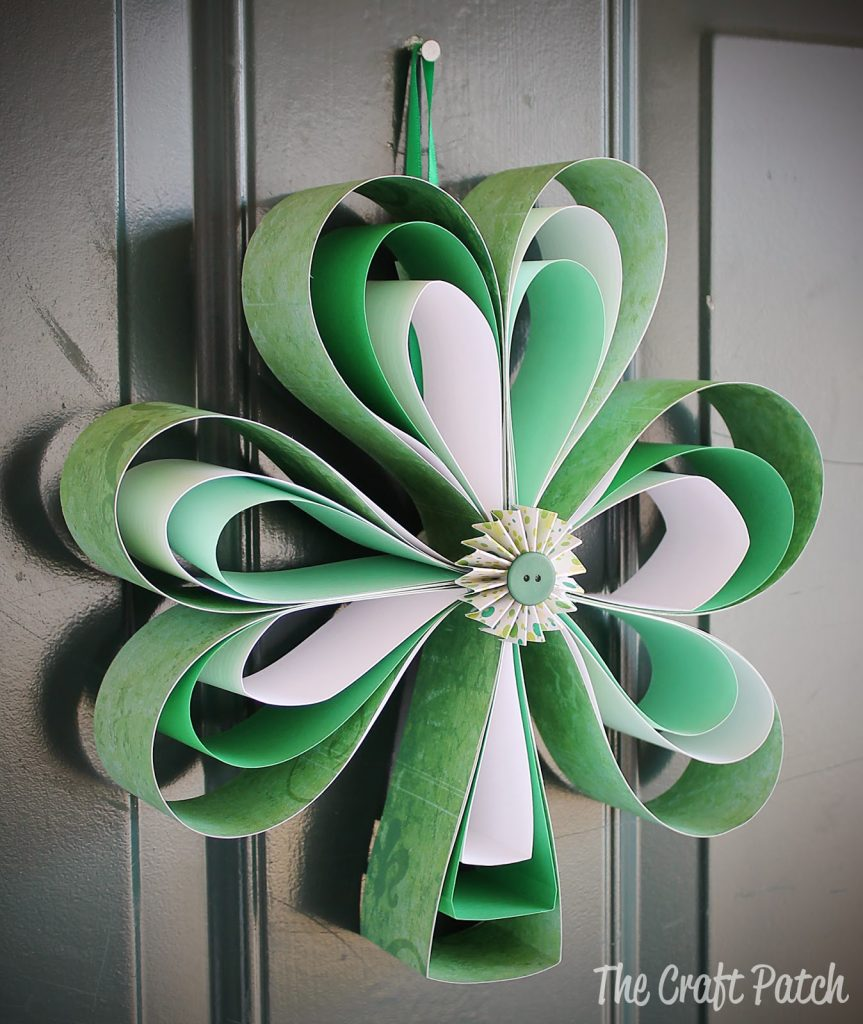 St. Patrick's Day Paper Shamrock DIY Activity