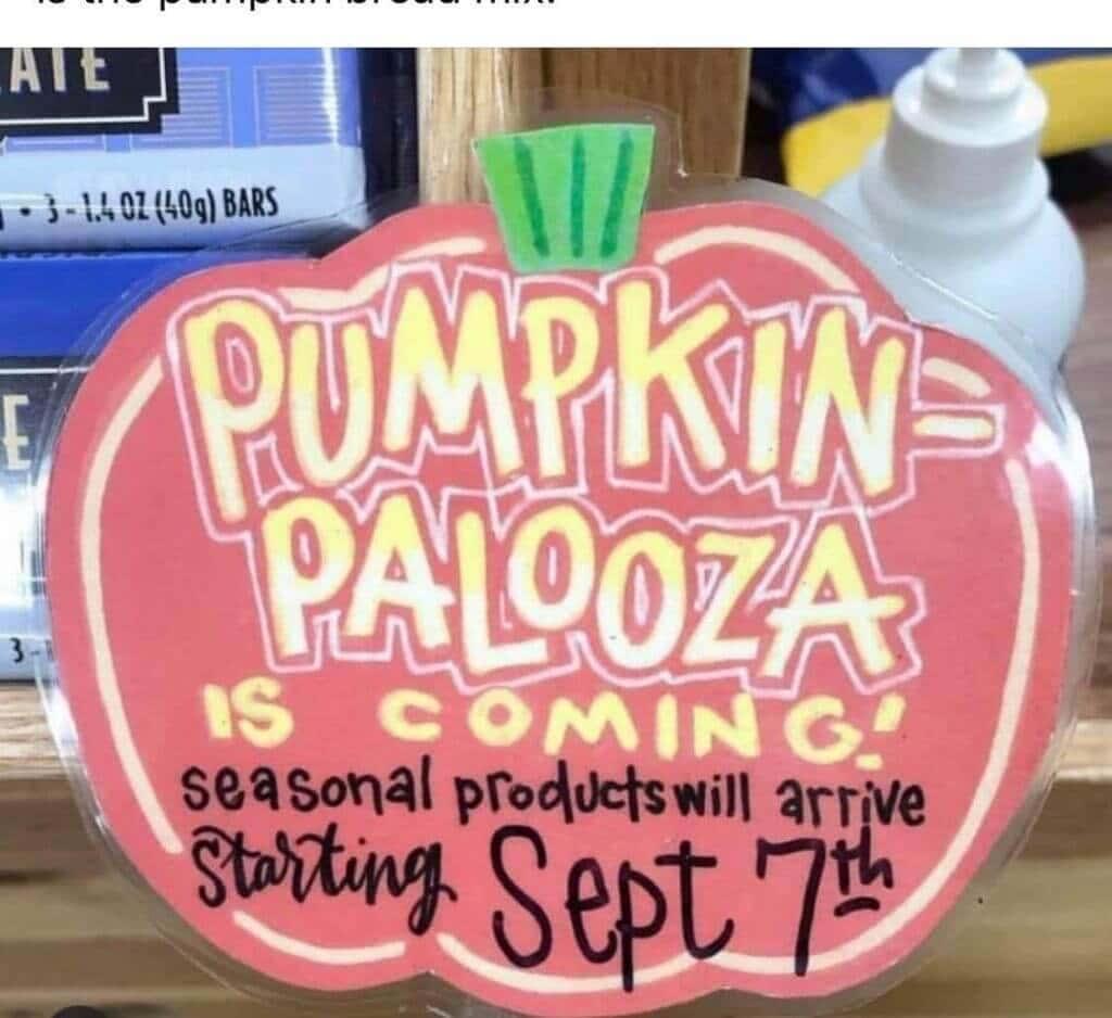 Pumpkin Palooza is coming to Trader Joes